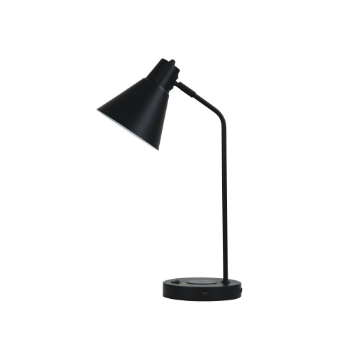 Toga Black Desk Lamp with USB and Wireless Charging