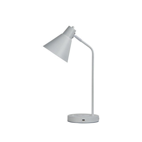 Toga White Desk Lamp with USB and Wireless Charging
