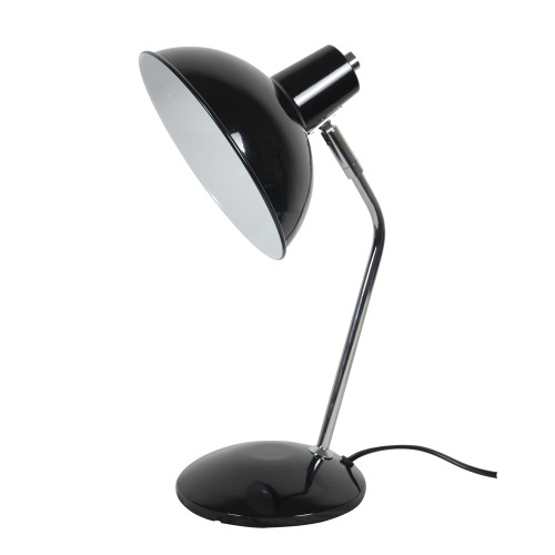 Freya Black and Chrome Minimalist Desk Lamp