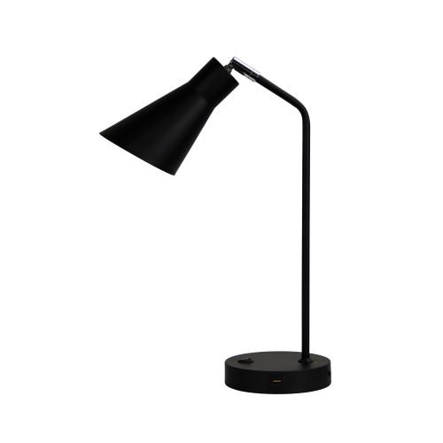 Odin Black Desk Lamp with USB Charging
