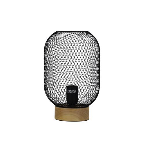 Thread Black Mesh Table Lamp