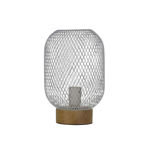 Thread White Mesh Table Lamp