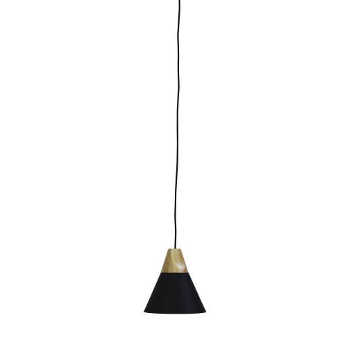 Terra Black Conical Pendant Light