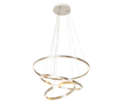 Circle Gold Up and Down Ring Pendant Chandelier