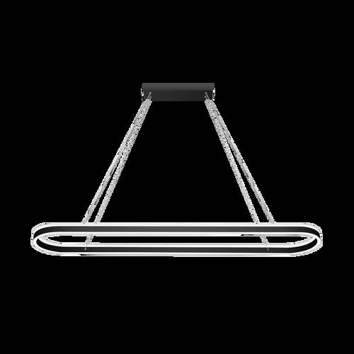 Sudor Matt Black Up and Down LED Pendant