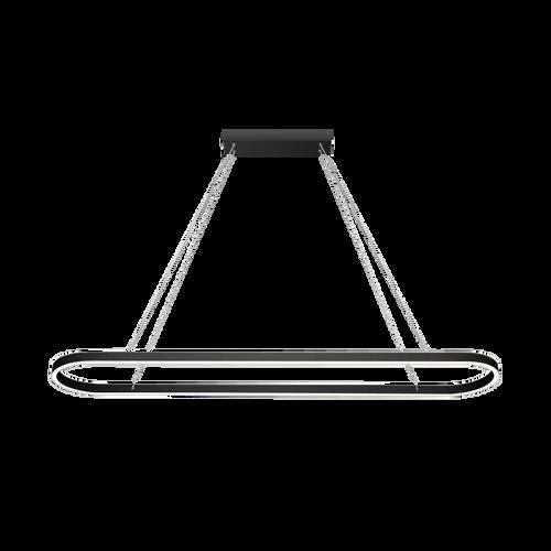 Sudor Matt Black Down LED Pendant