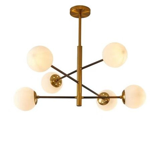 Solar Gold 6 Lights Cluster Pendant