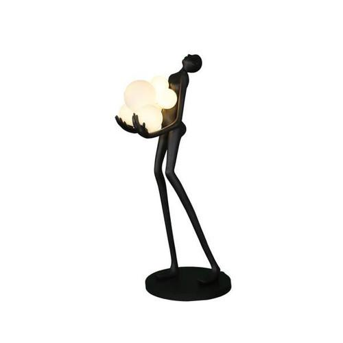 Art Statue Woman and Lights Decorative Floor Lamp