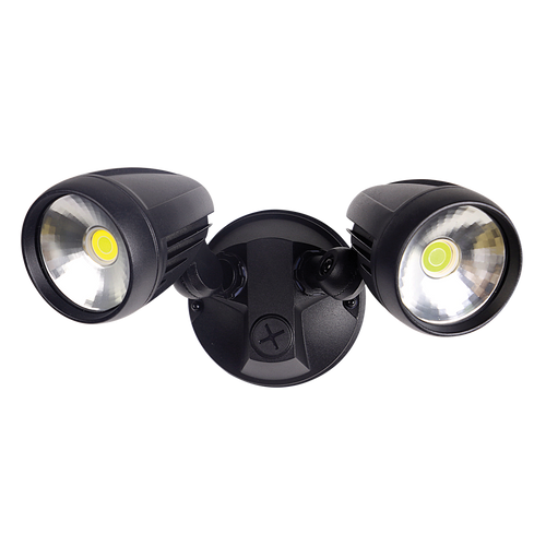 Seek Twin Black Security Flood Light