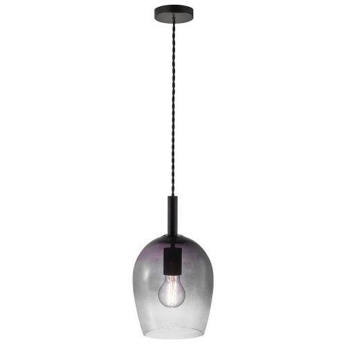 Uma 18 Bell Black Smoke Pendant Light