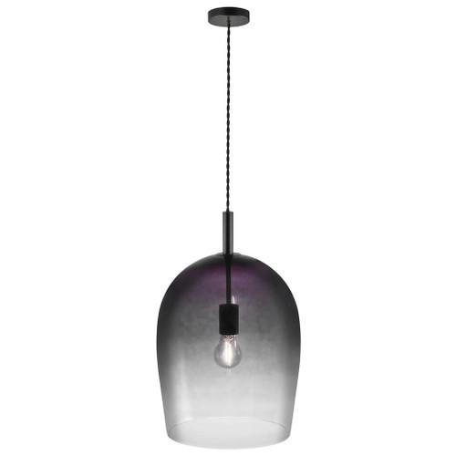 Uma 30 Bell Black Smoke Pendant Light