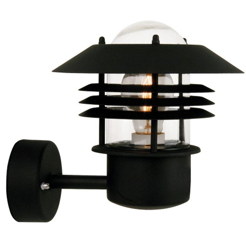 Vejers Classic Black Outdoor Wall Light