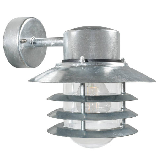 Vejers Down Galvanized Steel Outdoor Wall Light