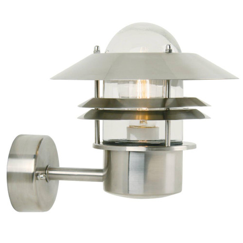 Blokhus Stainless Steel Outdoor Wall Light