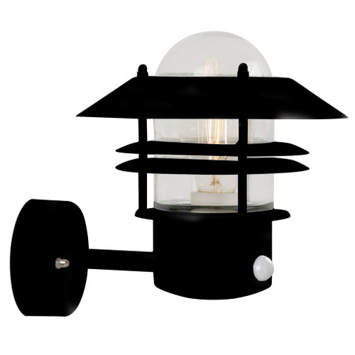 Blokhus Classic Black Outdoor Wall Light with Sensor