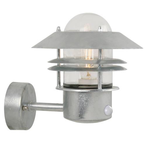 Blokhus Galvanised Steel Outdoor Wall Light with Sensor