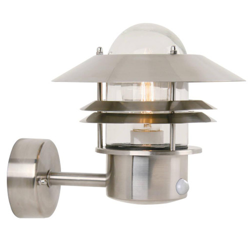 Blokhus Stainless Steel Outdoor Wall Light with Sensor