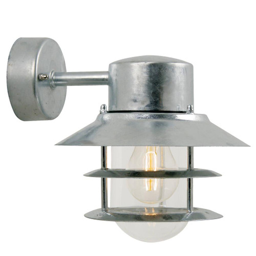 Blokhus Down Galvanized Steel Outdoor Wall Light