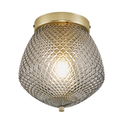 Orbiform Brass Smoked Glass Ceiling Light
