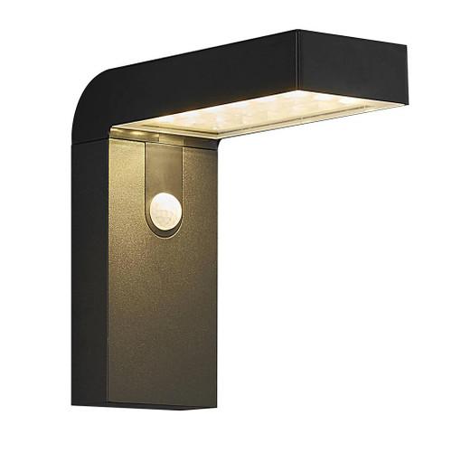 Alya Black Solar LED Cordless Wall Light with Sensor