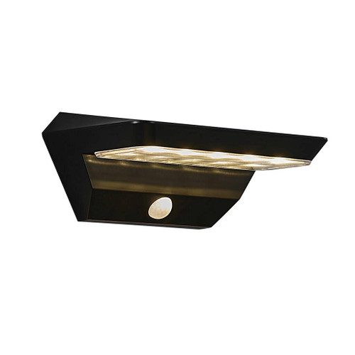 Agena Black Solar LED Cordless Wall Light with Sensor