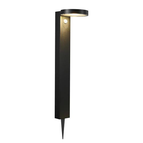 Rica Round Black Solar LED Standing Lamp with Sensor