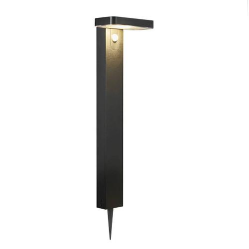 Rica Square Black Solar LED Standing Lamp with Sensor