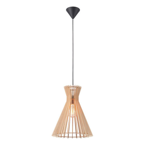 Groa 34 Natural Wooden Conical Open Pendant
