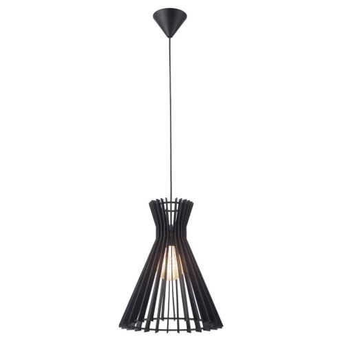 Groa 34 Black Wooden Conical Open Pendant