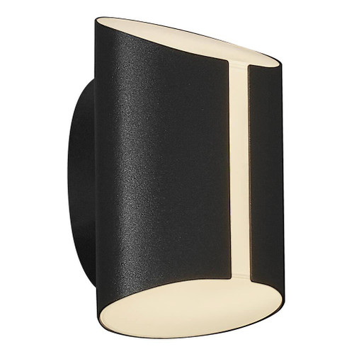Grip Black LED Open Cylindrical Wall Light