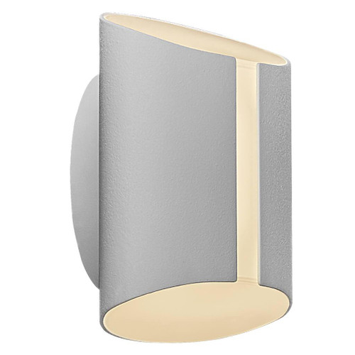 Grip White LED Open Cylindrical Wall Light