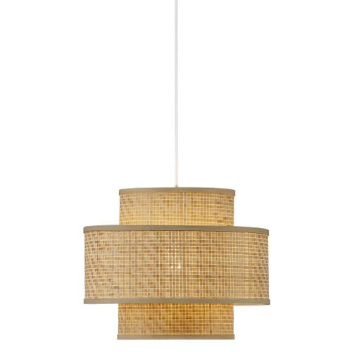 Trinidad Natural Bamboo Layered Braided Pendant