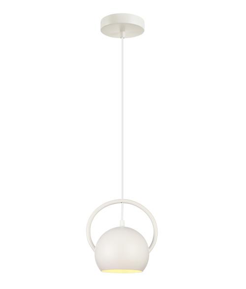 Bolla Matt White Round Dome Pendant Light