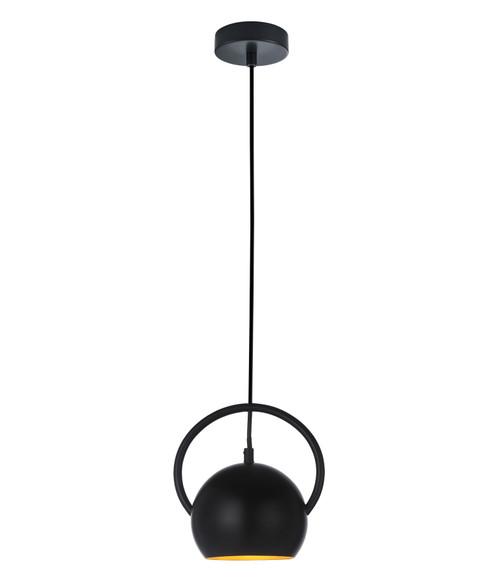 Bolla Matt Black Round Dome Pendant Light