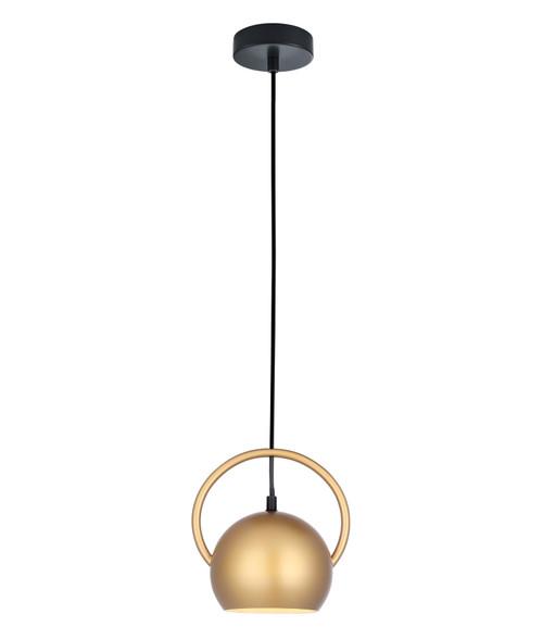 Bolla Matt Gold Round Dome Pendant Light