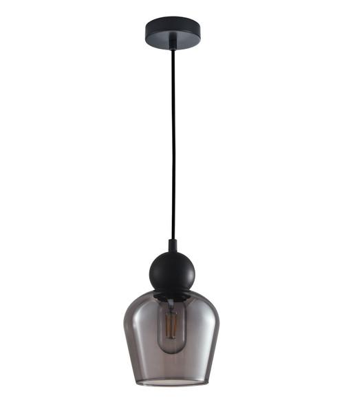 Organ Black Bell Smoke Glass Pendant