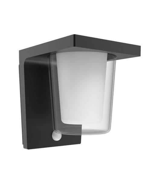 Vamp Dark Grey Cylinder Exterior Wall Light