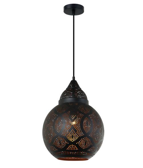 Stardust Black Bell Morrocan Pendant