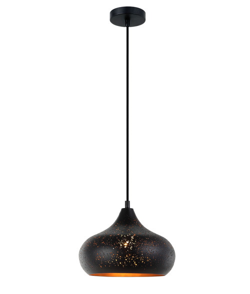 Stardust Black Champagne Glass Morrocan Pendant