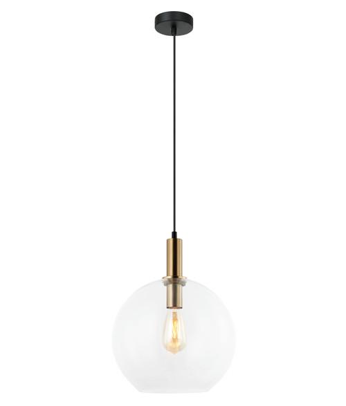 Prime Bronze Clear Glass Suspension Light