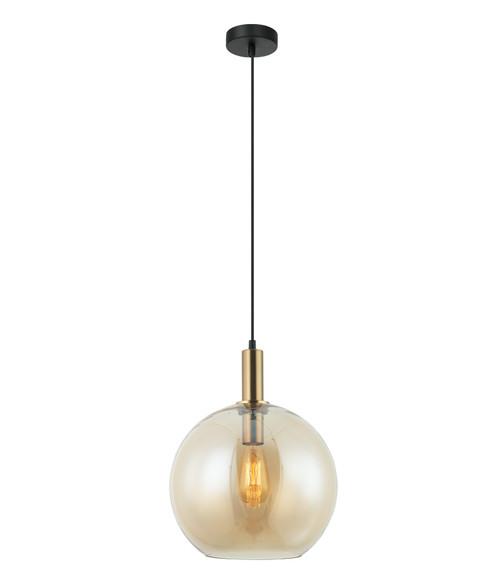 Prime Bronze Amber Glass Suspension Light