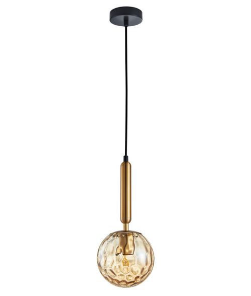 Toronto Amber Glass Spherical Pendant