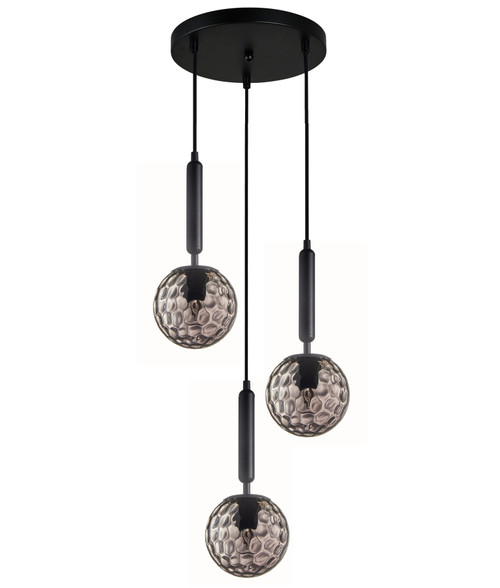 Toronto Smoke Glass Spherical Cluster Pendant