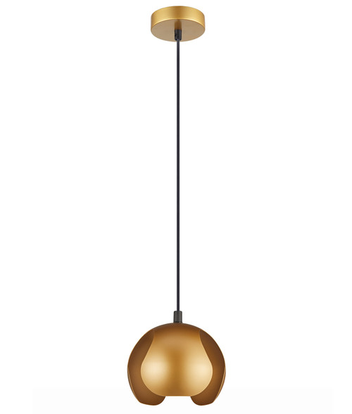 Virgo Gold Iron Dome Pendant Light