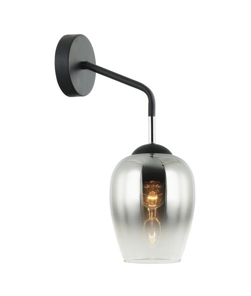 Riedel Chrome Glass Iron Wall Light