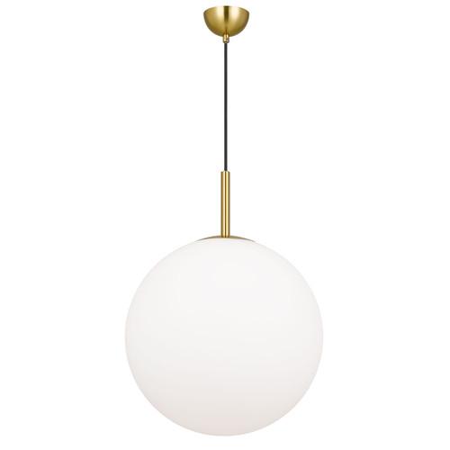 Bailey Gold Opal Glass Ball Pendant Light
