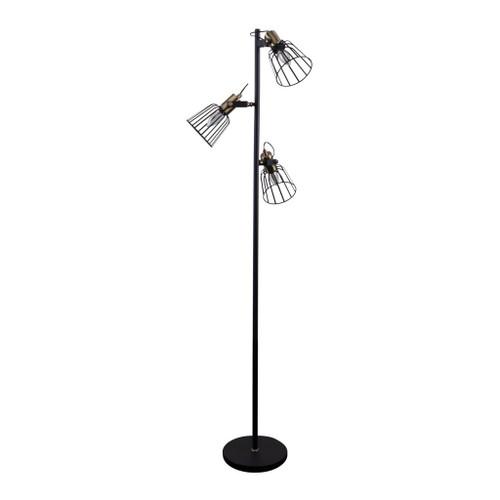 Ashley Black Three-Headed Cage Floor Lamp