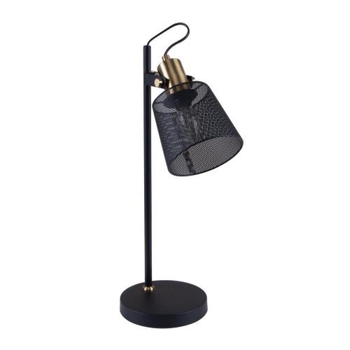 Rustica Black Metal Mesh Desk Lamp