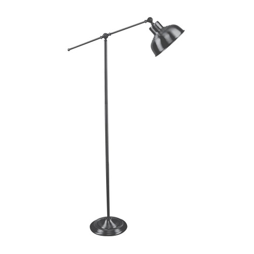 Tinley Antique Chrome Industrial Floor Lamp