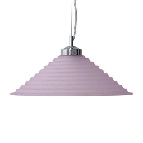 Step Pink Cone Art Deco Pendant Light